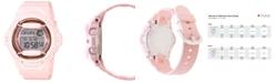 G-Shock Women's Analog-Digital Pink Resin Strap Watch 43mm