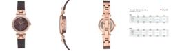Anne Klein Women's Diamond-Accent Brown Stainless Steel Mesh Bracelet Watch 26mm