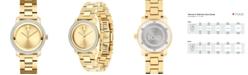 Movado Women's Swiss BOLD Diamond (1/3 ct. t.w.) Gold-Tone Stainless Steel Bracelet Watch 30mm