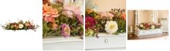 Nearly Natural Mixed Peony Centerpiece Flower Arrangement