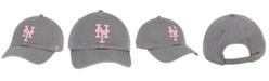 '47 Brand New York Mets Dark Gray Pink CLEAN UP Cap