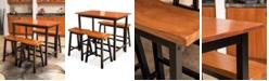 Noble House Chermin 4-Pc. Table Bench Set