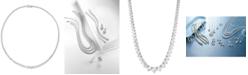 "Macy's Diamond Fancy 16-3/4"" Collar Necklace (10 ct. t.w.) in 14k White Gold"