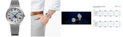 Raymond Weil Men's Swiss Automatic Maestro Moonphase Stainless Steel Mesh Bracelet Watch 40mm