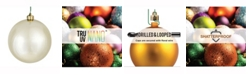 "Vickerman 6"" Champagne Shiny Ball Christmas Ornament, 4 per Box"