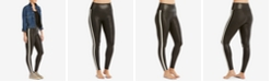 SPANX Tuxedo-Stripe Faux-Leather Leggings