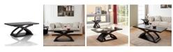 Furniture of America Porthos X-Base Coffee Table