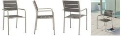 Modway Shore Outdoor Patio Aluminum Dining Rounded Armchair
