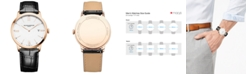 Baume & Mercier Men's Swiss Classima Black Leather Strap Watch 40mm