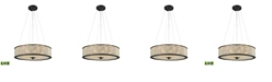 ELK Lighting Glass Beads 6 Light Chandelier in Oil Rubbed Bronze with Clear Glass Balls