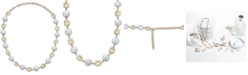 """Macy's Cultured Coin Freshwater Pearl (10mm) Collar Necklace in 14k Gold, 14-1/2"""" + 2"""" extender"""