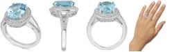 Macy's Blue Topaz (6-1/2 ct. t.w.) & White Topaz (1 ct. t.w.) Ring in Sterling Silver