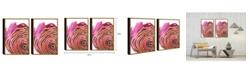 """Chic Home Decor Golden Petal 2 Piece Set Framed Canvas Wall Art Floral -20"""" x 31"""""""