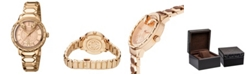 Roberto Cavalli By Franck Muller Women's Swiss Quartz Rose-Tone Stainless Steel Bracelet Watch, 34mm