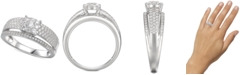 Macy's Cubic Zirconia Bridal Ring in Sterling Silver