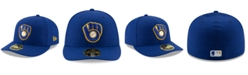 New Era Milwaukee Brewers Low Profile AC Performance 59FIFTY Fitted Cap