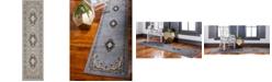 """Bridgeport Home Birsu Bir1 Gray 2' 7"""" x 10' Runner Area Rug"""