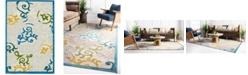 Bridgeport Home Pashio Pas3 Blue 4' x 6' Area Rug