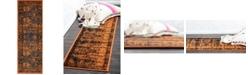 Bridgeport Home Linport Lin1 Terracotta/Black 2' x 6' Runner Area Rug