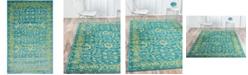 Bridgeport Home Linport Lin3 Blue 5' x 8' Area Rug