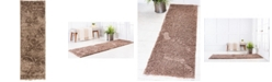 "Bridgeport Home Malloway Shag Mal1 Brown 2' x 6' 7"" Runner Area Rug"