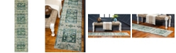 "Bridgeport Home Newhedge Nhg3 Green 2' 7"" x 10' Runner Area Rug"