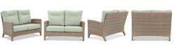 Furniture Grand Stafford Outdoor Loveseat with Sunbrella® Cushions