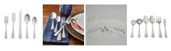 RiverRidge Home Riverridge Beaded 46 Piece Monogrammed Flatware Set - E, Service for 8