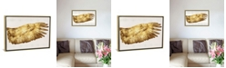"""iCanvas Golden Wing Ii by Kate Bennett Gallery-Wrapped Canvas Print - 18"""" x 26"""" x 0.75"""""""