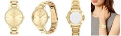 COACH Women's Audrey Gold-Tone Stainless Steel Bracelet Watch 35mm