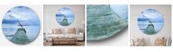 Design Art Designart Oversized Coastal Round Metal Wall Clock