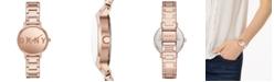 DKNY Women's Modernist Rose Gold-Tone Stainless Steel Bracelet Watch 32mm