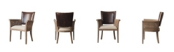 Burnham Home Designs Amelia Arm Chair with Leather Back