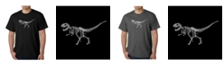 LA Pop Art Men's Word Art T-Shirt - Dinosaur T-Rex Skeleton