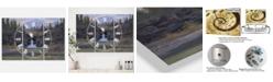 "Designart Running Eagle Falls Oversized Traditional 3 Panels Wall Clock - 38"" x 38"" x 1"""