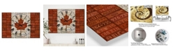 """Designart Canada License Plate Flag Large Traditional 3 Panels Wall Clock - 23"""" x 23"""" x 1"""""""