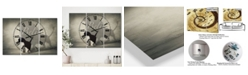 "Designart Believe Shadow I Oversized Cottage 3 Panels Wall Clock - 38"" x 38"" x 1"""