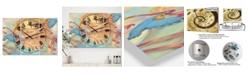 "Designart Cinderella Oversized Modern 3 Panels Wall Clock - 38"" x 38"" x 1"""