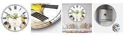 "Designart Three White Ducks Oversized Farmhouse Wall Clock - 36"" x 28"" x 1"""