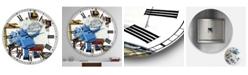 """Designart Robot Painting Selfie Oversized Modern Wall Clock - 36"""" x 28"""" x 1"""""""