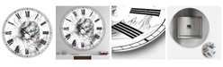 "Designart Sea Horse Crystal Blue Oversized Modern Wall Clock - 36"" x 28"" x 1"""