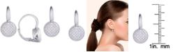 Macy's Diamond 1/5 ct. t.w. Round Leverback Earrings in Sterling Silver