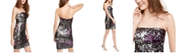 Jump Juniors' Strapless Two-Tone Sequined Dress