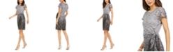 Robbie Bee Petite Sparkle Lace Overlay Dress