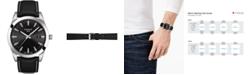 Tissot Men's Swiss T-Classic Gentleman Black Leather Strap Watch Watch 40mm