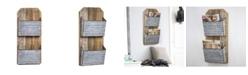 Crystal Art Gallery American Art Decor 2 Pocket Galvanized Wood Mail, Magazine Wall Organizer