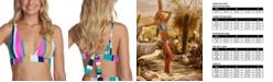 Raisins Juniors' Belle Mar Striped Bikini Top