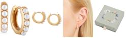 Olivia Burton Imitation Pearl Huggie Hoop Earrings
