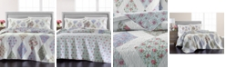 Martha Stewart Collection LAST ACT! Reversible Diamond Floral Patchwork King/Cal King Quilt, Created for Macy's
