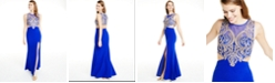 City Studios Juniors' Embellished Cutout Gown